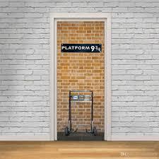 Self Adhesive Wallpaper by The Platform 9 3 4 Door Stickers 3d Pvc Self Adhesive Wallpaper