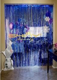 wedding backdrop blue foil fringe curtain 3ftx8ft royal blue hanging