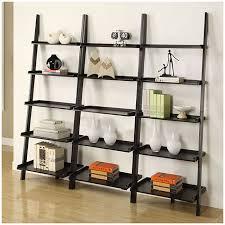 Mainstays 3 Shelf Bookcase Instructions Living Room Bookcase Mainstays Leaning Ladder 5 Shelf Espresso For