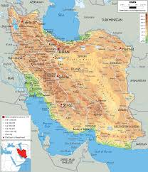 Asia Physical Map Physical Map Of Iran Ezilon Maps