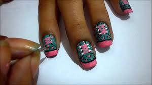 leopard all star nail art tutorial youtube