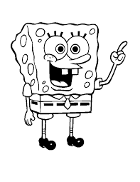 sponge bob coloring pages for kids printable free in funny