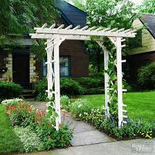 How To Build A Wooden Pergola by How To Build A Simple Entry Arbor