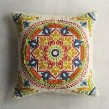 Pier One Peacock Pillow by Fringed Medallion Pillow Pier 1 Imports