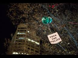 black lives matter balloon release during seattle christmas tree