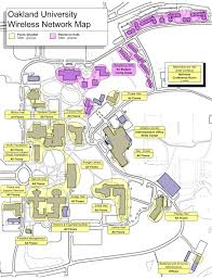 University Of Michigan Campus Map by Wireless Network Map Oakland University