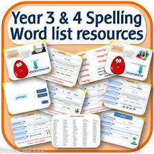 year 3 u0026 4 spelling word list teaching resources iwb worksheets