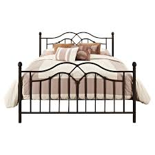 bronze queen size bed frame metal headboard footboard rails