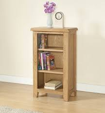 Narrow Bookcases Uk Cotswold Rustic Light Oak Small Bookcase Oak Furniture Uk