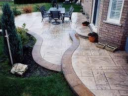 Stamped Concrete Backyard Ideas Pleasant Pendant In Decorative Concrete Patio Interior Designing