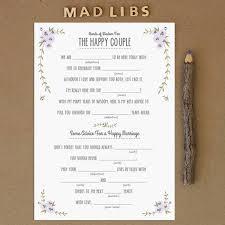 bridal mad libs free printables bridesmaid thank you cards rustic mad libs