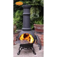 chimera fire pit gardeco toledo chiminea 100 cast iron bronze finish 4 size options