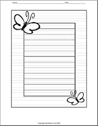 writing paper butterfly elementary abcteach
