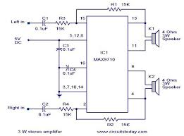 3 w stereo lifier using max 7910 audio power lifier circuit