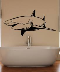 animal decals for walls vinyl wall vinyl wall decal sticker swimming shark