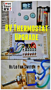 hunter 42999b digital rv thermostat upgrading the oem thermostat