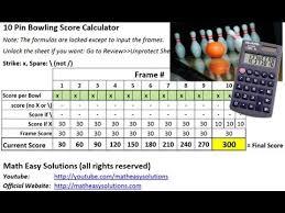 Ten Pin Bowling Sheet Template 10 Pin Bowling Calculator Free