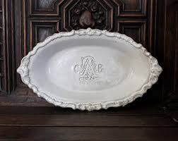 monogrammed platters and trays personalized platter etsy