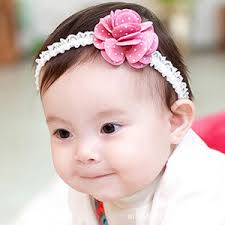 baby hair bands baby toddler flower lace bowknot turban hair band