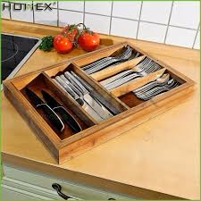 Bamboo Silverware Holder Kitchen Cutlery Tray Kitchen Cutlery Tray Suppliers And