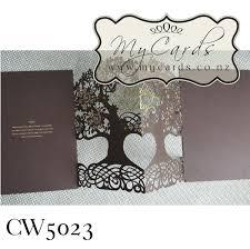 Gold Foil Wedding Invitations Tree Wedding Invitations Gold Foil Mycards Cw5023