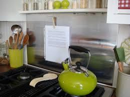 kitchen backsplash stainless backsplash behind stove stainless