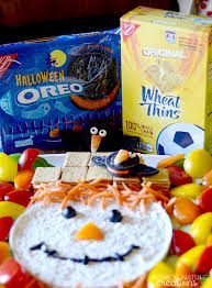 Dip For Thanksgiving Scarecrow Dip Platter And Oreo Crows Easy Halloween Snacks