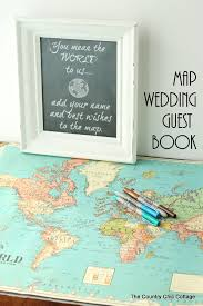 wedding photo guest book map wedding guest book the country chic cottage