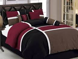 black and brown cotton geometric comforter sets with