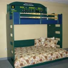 Baseball Bunk Beds Crafted Baseball Loft With Murphy Bed By Wwbeds Custom