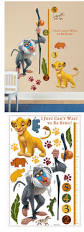 the lion king growth chart wall decal