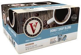 victor allen coffee donut shop single serve k cup 80 count
