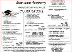 graduation packages maywood academy legends class of 2011 home