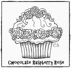 cupcake coloring page coloring home