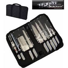 mallette couteaux de cuisine professionnel sacoche couteaux 9 pieces inox pro schumann achat vente