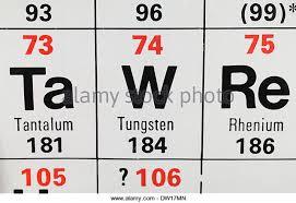 Tungsten Periodic Table Relative Atomic Mass Stock Photos U0026 Relative Atomic Mass Stock
