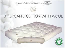 King Futon San Jose 8 Organic Cotton Wool Futon Mattress Gold Bond 299 In