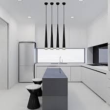Modern Pendant Light Fixtures by Dinning Room Bar Aluminum Acrylic Creative Tapered Shape Modern