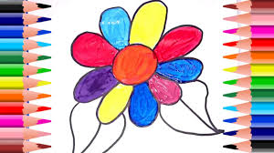 how to draw and paint spring flower coloring pages youtube