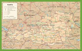 Austria World Map by Large Detailed Map Of Austria