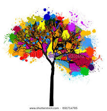 colorful abstract tree background stock vector 76687630