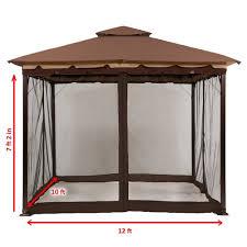 12 X 16 Gazebo Hardtop by Gazebos Umbrellas Canopies U0026 Shade Patio Furniture Amazon Com