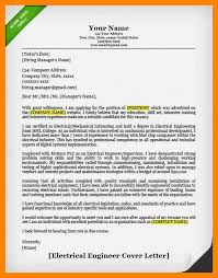 electrical engineering cover letter examples cover letter example