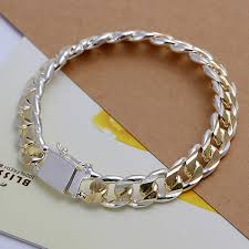 mens silver jewelry bracelet images Fashion bracelet men jewelry 925 sterling silver jewelry 10mm jpg