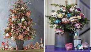 tabletop trees and small tree ornaments