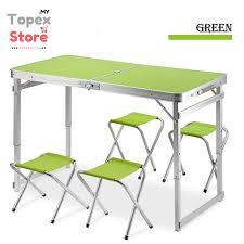 Heavy Duty Folding Table Heavy Duty Aluminium Folding Table Green Topexstore My