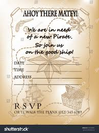 many stock birthday party invitation card vector creation pirate party invitation card design pirate stock vector 459333691