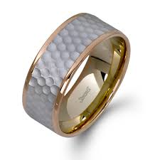 the gents wedding band lg119 18k white and gold gents wedding band from simon g