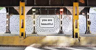 public art you are beautiful morse ave metra underpass miles of murals program in rogers park for 49th ward chicago il 12 x 150 2013 present