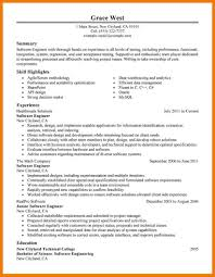 Resume Templates For Software Engineer Software Engineer Resume Summary Of Qualifications Technical
